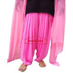 Pink Patiala Dupatta Set with customised stitching from Patiala City