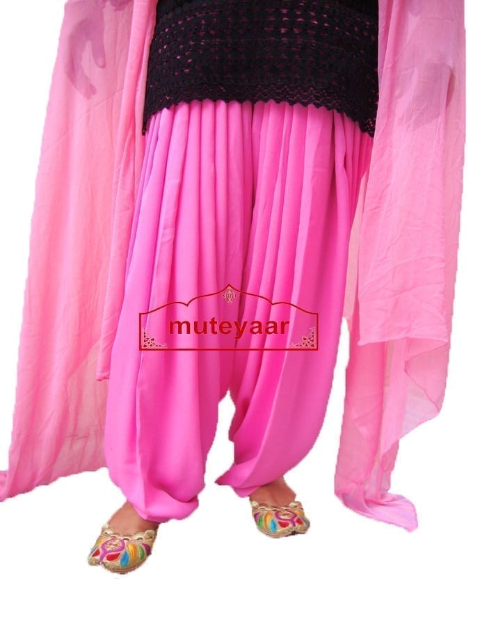 Pink Patiala Dupatta Set with customised stitching from Patiala City 1