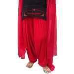 RED Patiala Dupatta set from Patiala City- custom stitched