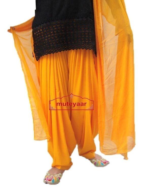 Saffron Patiala shalwaar + Matching Dupatta  from Patiala City