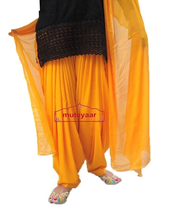 Saffron Patiala shalwaar + Matching Dupatta  from Patiala City 1