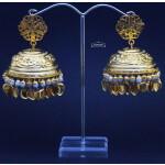 Gold Plated Super Big Lotan Jhumka J0386