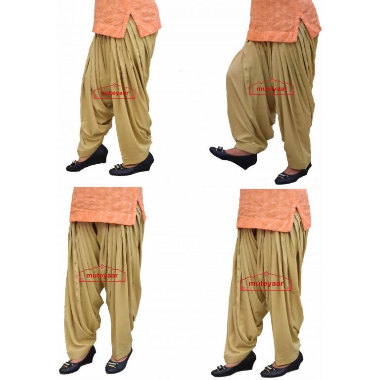 Patiala Salwar Wholesale Lot of 12 pcs. Crepe 3 meter Patiala Salwars 3MACLOT12