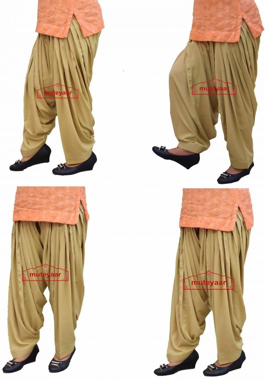 Wholesale Lot of 12 pcs. Crepe 3 meter Patiala Pants 3MACLOT12 1