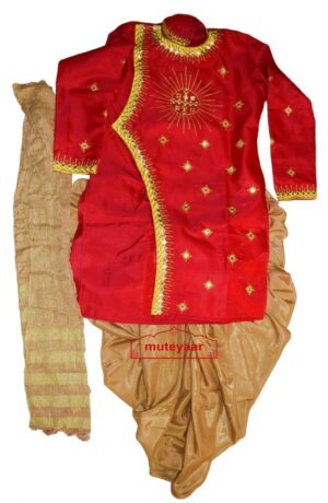 Dhoti Achkan / Kurta Stole Mirrors Work Bollywood Dance Dress Outfit Costume Attire