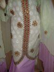 Light Green/mauve Cotton Sherwani Full Patiala salwar suit F0326