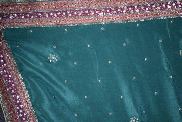 Original Zircons Jarkan work partywear pure crepe Punjabi Suit pure chinon F0497
