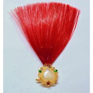 Dark Red Kalgi for Bridegroom for a traditional Punjabi Wedding Ceremony KL001