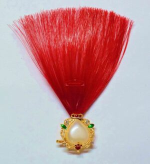 Dark Red Kalgi for Bridegroom for a traditional Punjabi Wedding Ceremony KL001