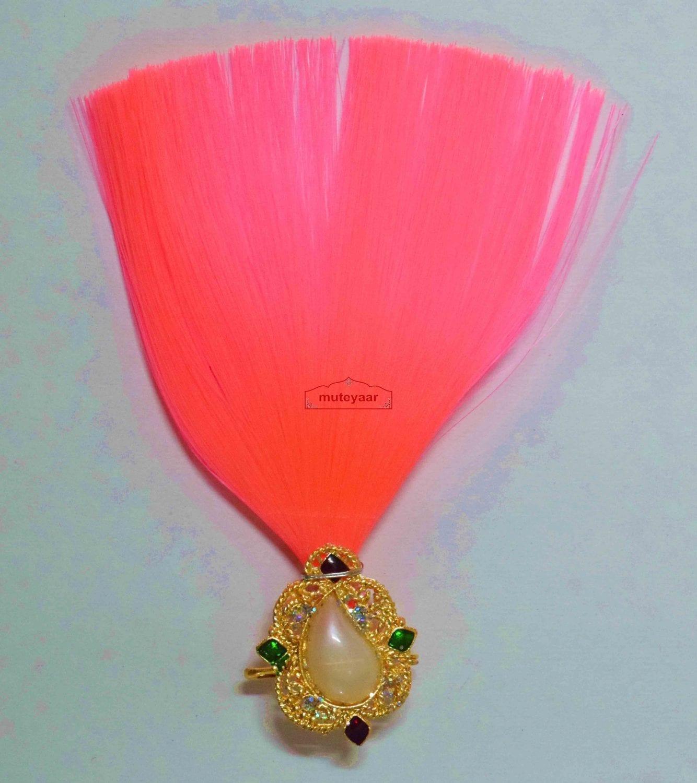 Pink Kalgi for Bridegroom for a traditional Punjabi Wedding Ceremony KL002 1