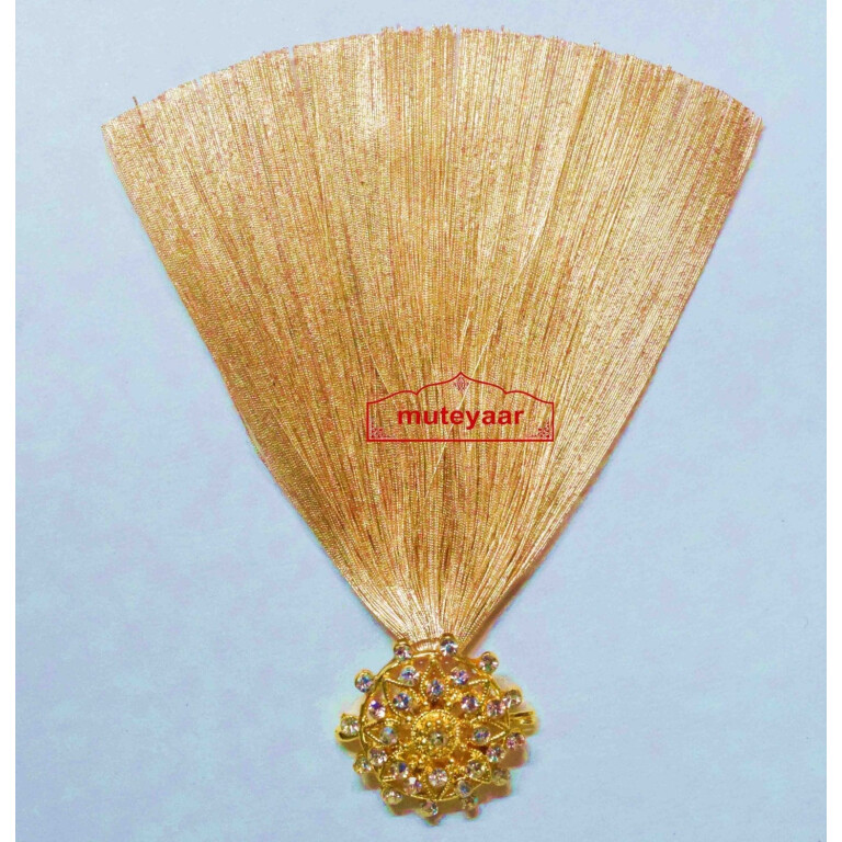 Golden Kalgi for Bridegroom for a traditional Punjabi Wedding Ceremony KL005