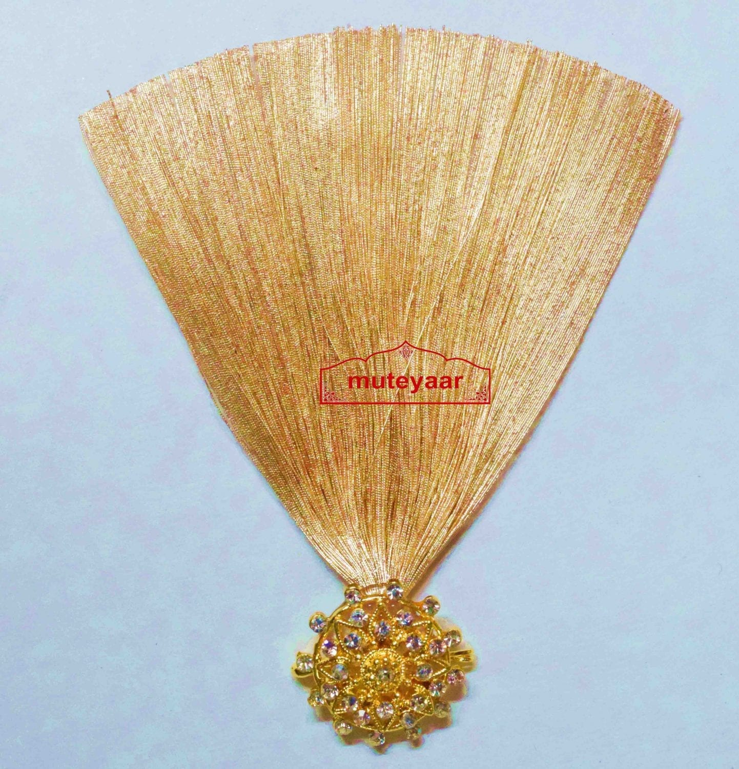 Golden Kalgi for Bridegroom for a traditional Punjabi Wedding Ceremony KL005 1