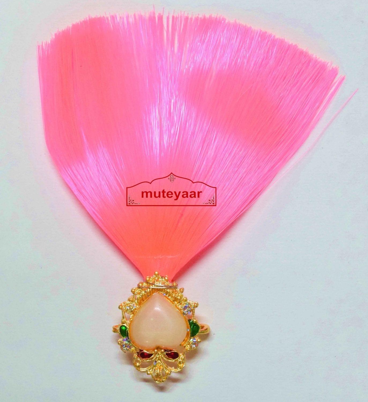 Pink Kalgi for Bridegroom for a traditional Punjabi Wedding Ceremony KL006 1