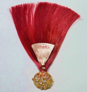 Maroon Kalgi for Bridegroom for a traditional Punjabi Wedding Ceremony KL007
