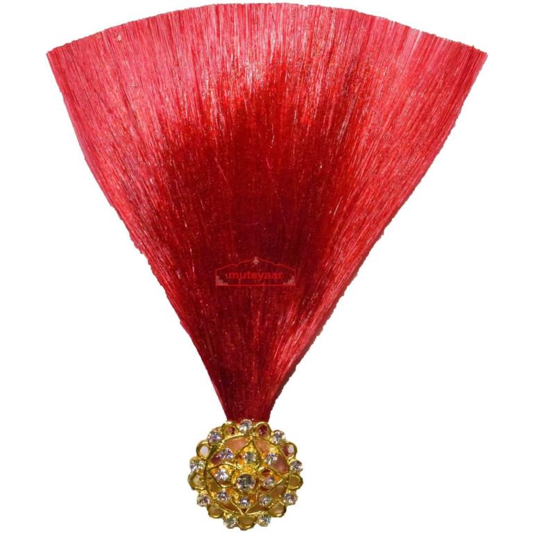 Dark Red Kalgi for Bridegroom for a traditional Punjabi Wedding Ceremony KL009