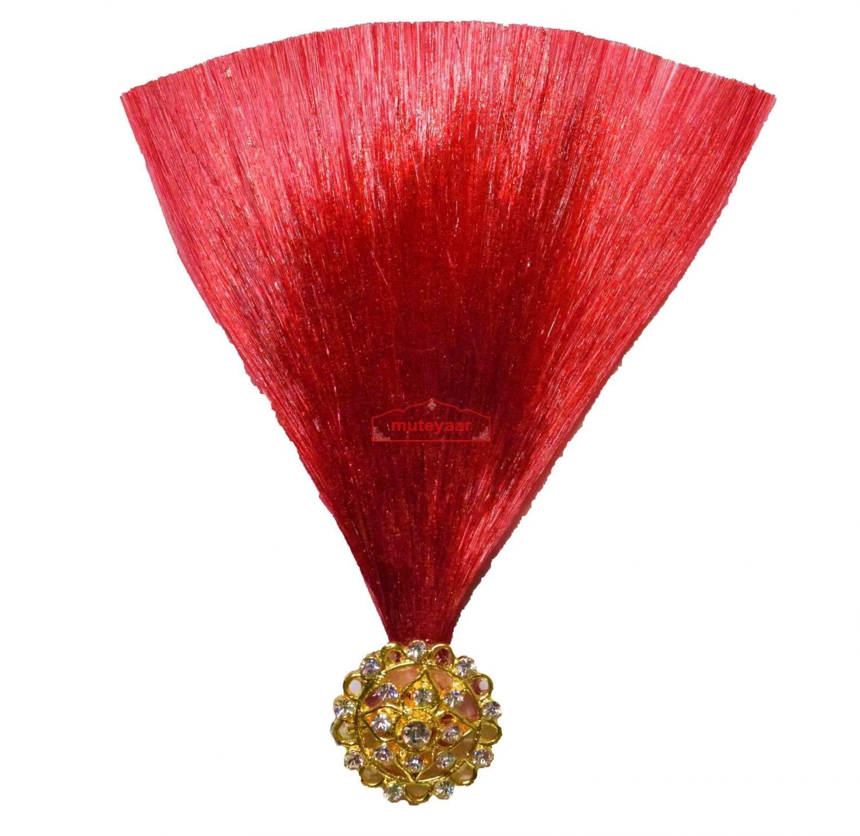 Dark Red Kalgi for Bridegroom for a traditional Punjabi Wedding Ceremony KL009 1