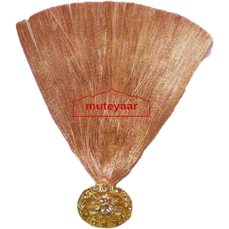 Golden Kalgi for Bridegroom for a traditional Punjabi Wedding Ceremony KL010