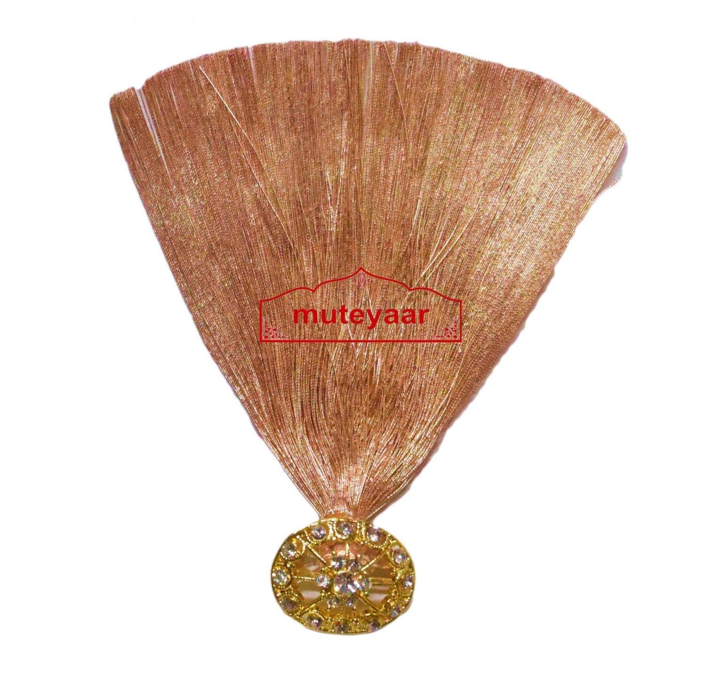 Golden Kalgi for Bridegroom for a traditional Punjabi Wedding Ceremony KL010 1