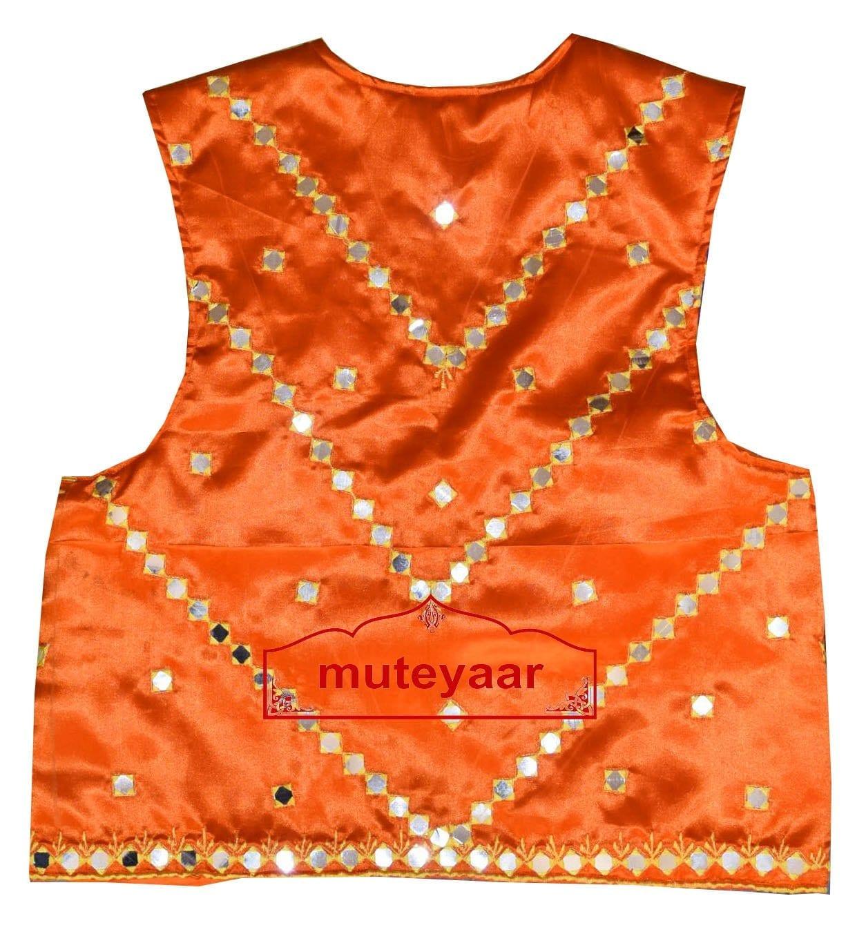 Diagonal Mirrors Work Bhangra Dance Dress Outfit Costume Attire 3