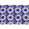 Blue White Circles Printed COTTON FABRIC for Multipurpose use (per meter price) PC334