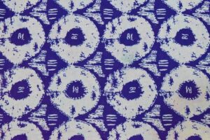 Blue White Circles Printed COTTON FABRIC for Multipurpose use PC334