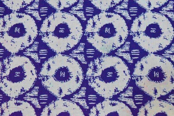 Blue White Circles Printed COTTON FABRIC for Multipurpose use (per meter price) PC334