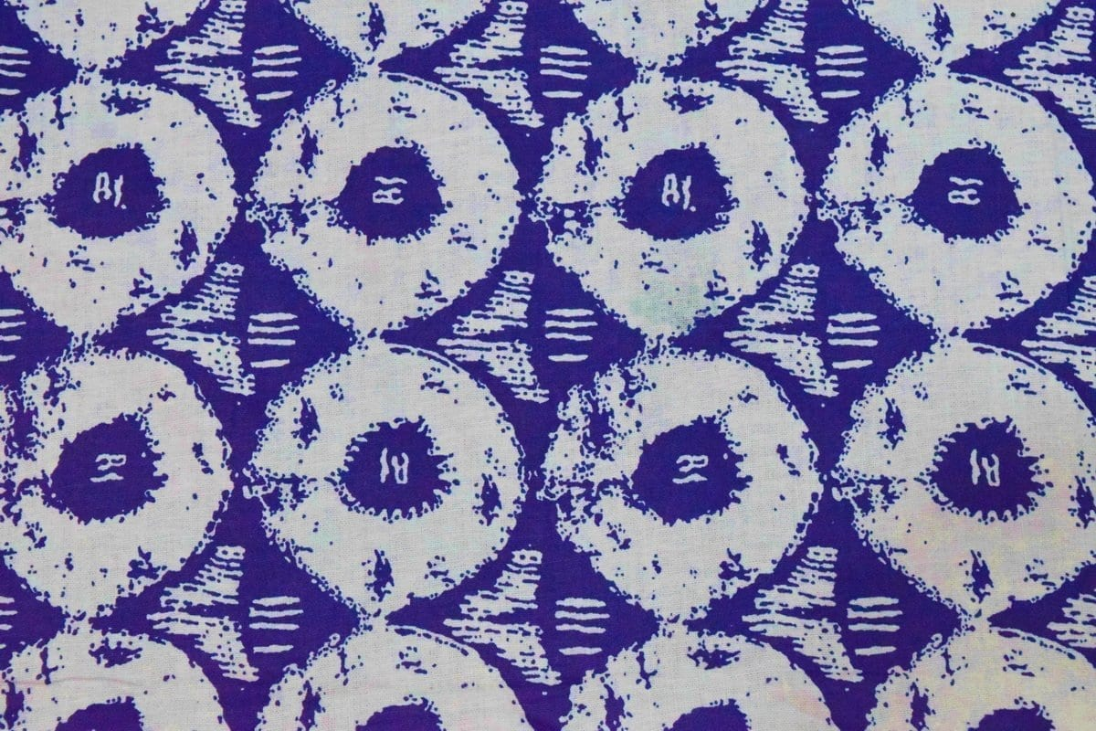 Blue White Circles Printed COTTON FABRIC for Multipurpose use PC334 1