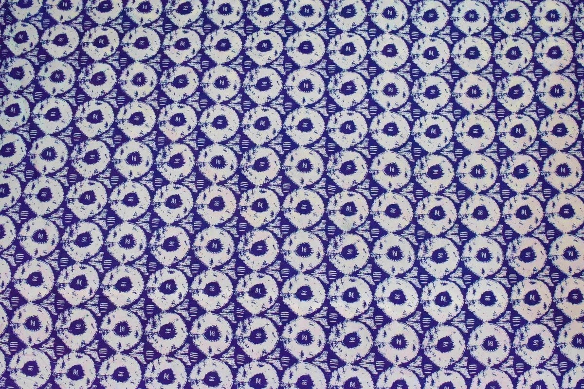 Blue White Circles Printed COTTON FABRIC for Multipurpose use PC334 2