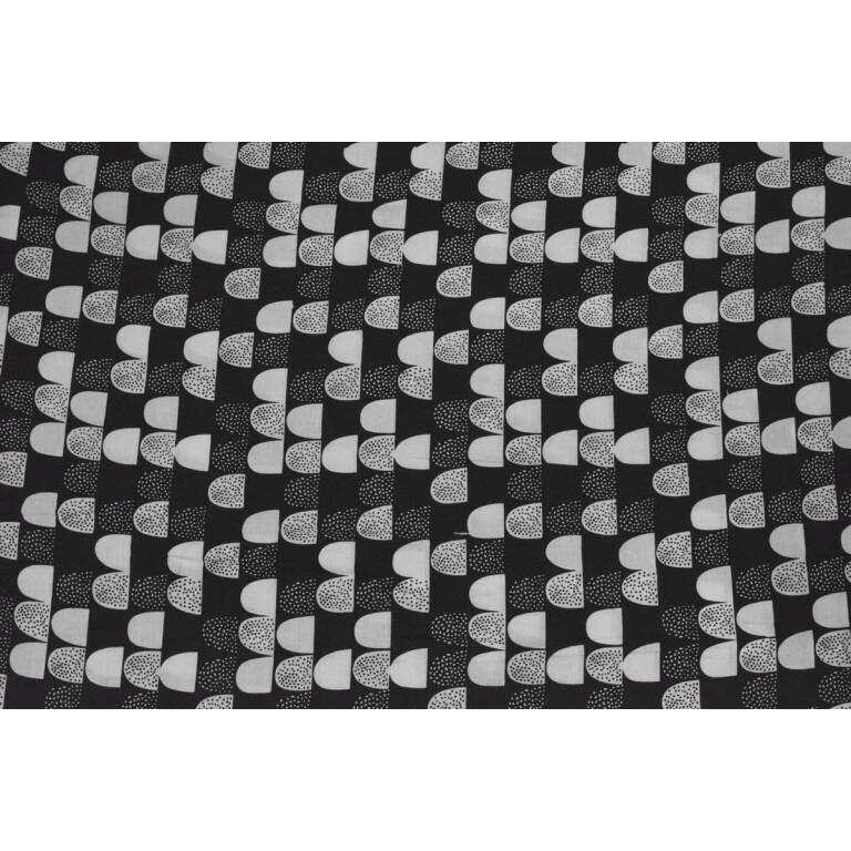 Black n White Printed COTTON FABRIC for Kurti Multipurpose use (per meter price) PC336