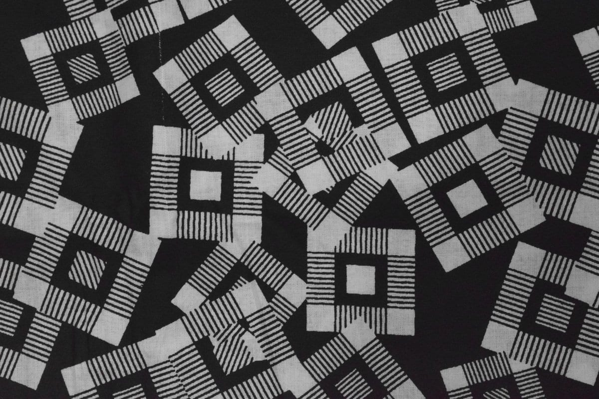Black & White Printed COTTON FABRIC for Multipurpose use PC337 1