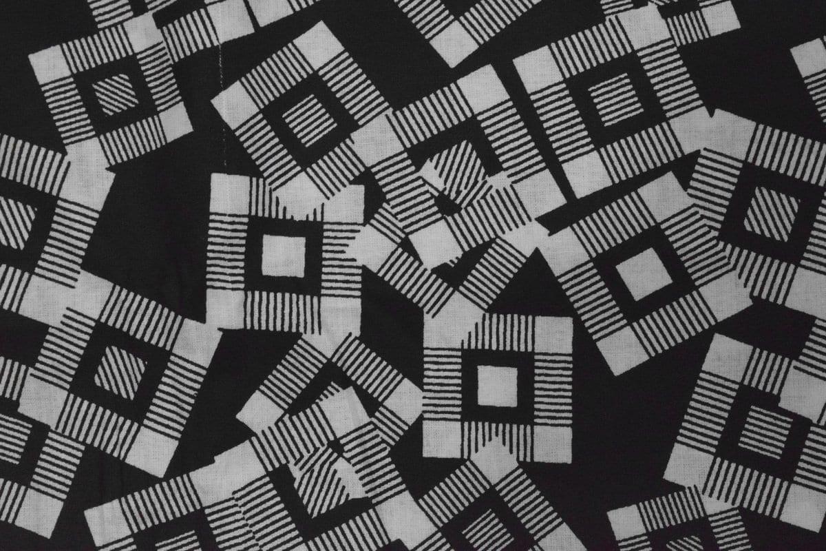 Black & White Printed COTTON FABRIC for Multipurpose use PC337 1