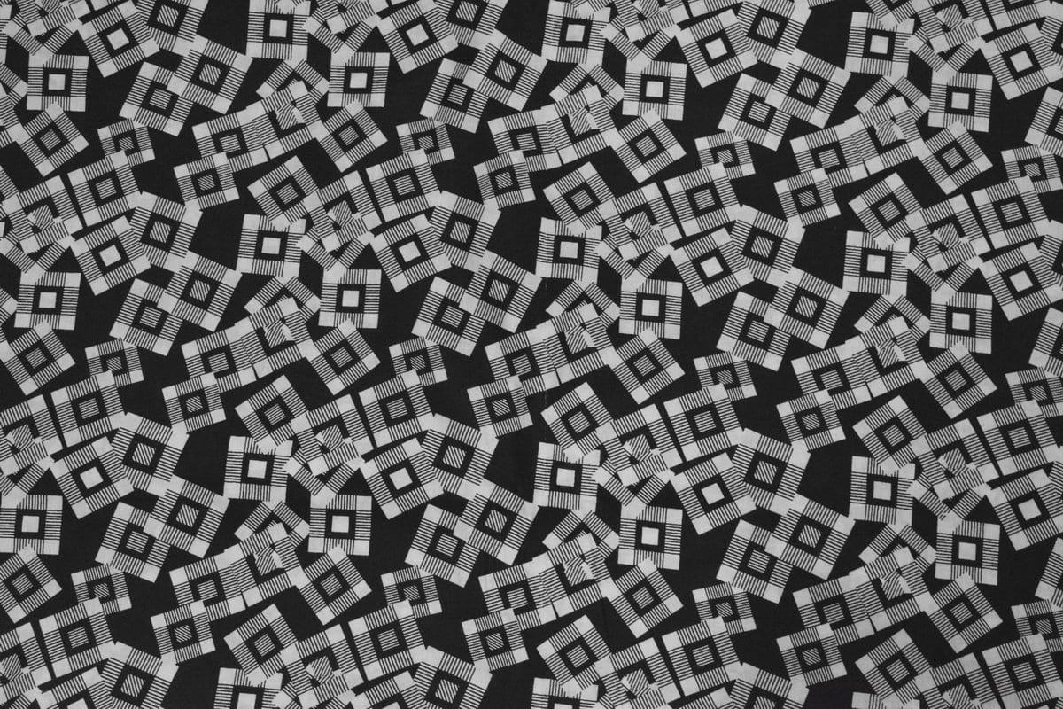 Black & White Printed COTTON FABRIC for Multipurpose use PC337 2