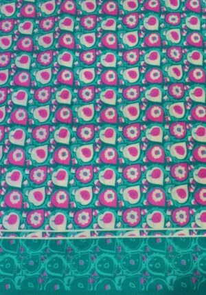 Green magenta Printed COTTON FABRIC for Multipurpose use PC340