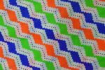 Multicolor ZigZag Printed COTTON FABRIC for Multipurpose use PC342