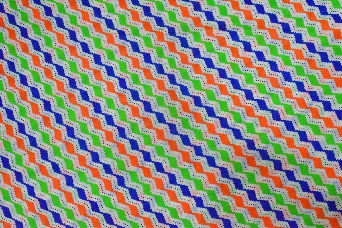 Multicolor ZigZag Printed COTTON FABRIC for Multipurpose use PC342 2