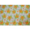 Orange Flowers Printed COTTON FABRIC for Multipurpose use (per meter price) PC343