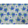 Blue Flowers Printed COTTON FABRIC for Multipurpose use (per meter price) PC344