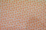 Small Orange Flowers COTTON PRINTED FABRIC for Multipurpose use PC346