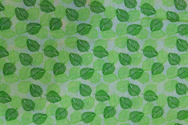 Green leaves COTTON PRINTED FABRIC for Multipurpose use (per meter price) PC347