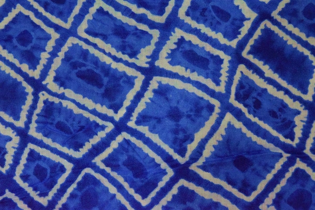 Blue COTTON PRINTED FABRIC for Multipurpose use PC352 1