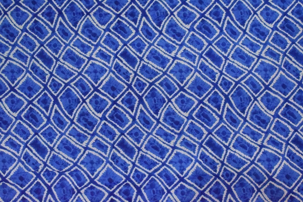 Blue COTTON PRINTED FABRIC for Multipurpose use PC352 2