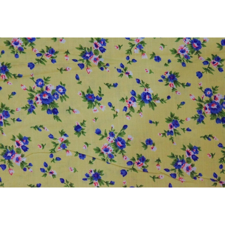 Fawn Small Floral design COTTON PRINTED FABRIC for Multipurpose use (per meter price) PC354
