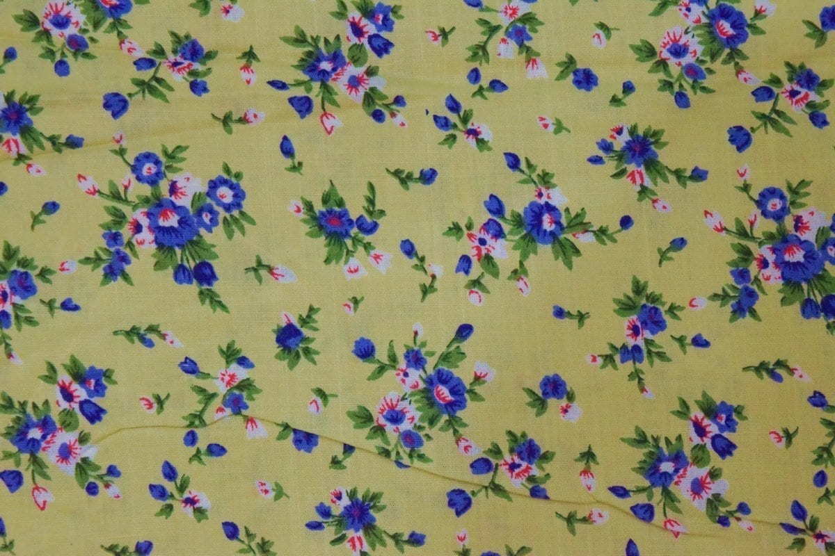 Fawn Small Floral design COTTON PRINTED FABRIC for Multipurpose use PC354 1