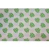 White Green COTTON PRINTED FABRIC for Multipurpose use (per meter price) PC357