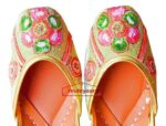 Traditional Dabka Embroidered Hand Made Leather Punjabi Jutti PJ9801