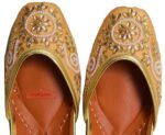 Hand Made Kundan Dabka Embroidered Leather Punjabi Jutti PJ9805