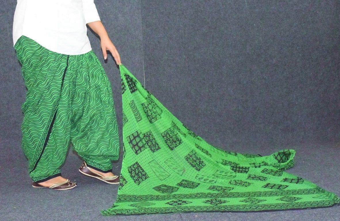 Printed Patiala Salwar Pure Cotton with Print cotton Dupatta PSD244 2