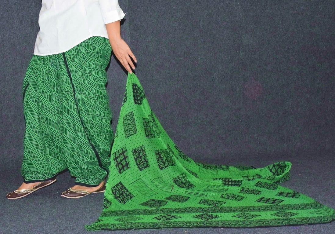 Printed Patiala Salwar Pure Cotton with Print cotton Dupatta PSD244 3