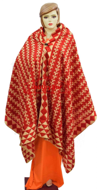 PHULKARI Bagh Dupatta M/C Embroidered Party wear Cotton chunni D0932 1