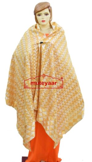PHULKARI Bagh Dupatta M/C Embroidered Party wear Cotton chunni D0933